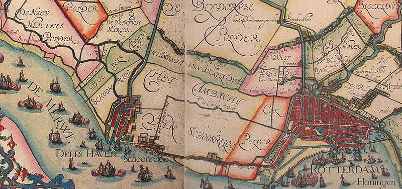Delfshaven in 1611 (afbeelding: WIkipedia)