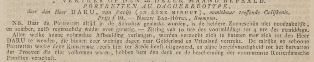 (Uit: Rotterdamsche Courant van 23 juli 1842)