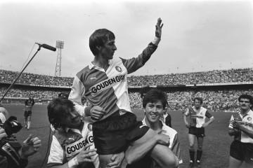 Afscheid John Cruyff bij Feyenoord - PEC. Foto: Nationaal Archief (Anefo).