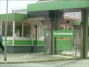 Merwedeziekenhuis in Dordrecht - Beeld uit Vergeten Verhalen van TV Rijnmond