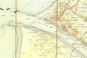 Stafkaart Hoek van Holland 1914