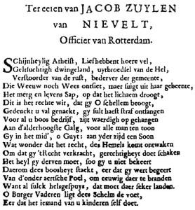 Pamflet Kostermanoproer