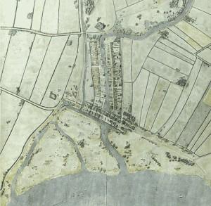 Rotterdam im 1340 (afbeelding: Stadsarchief Rotterdam)