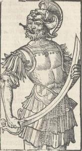 Tekening van Wolfert van Borselen in de Divisiekroniek van 1517