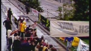De winnaar van de eerste Marathon van Rotterdam (1981), schot John Graham. Beeld: TV Rijnmond
