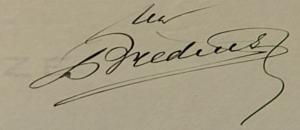 Handtekening Bredius